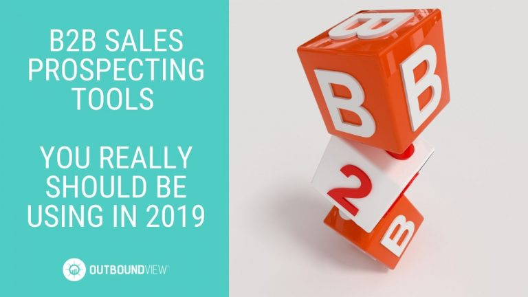 B2B sales prospecting tools 2019
