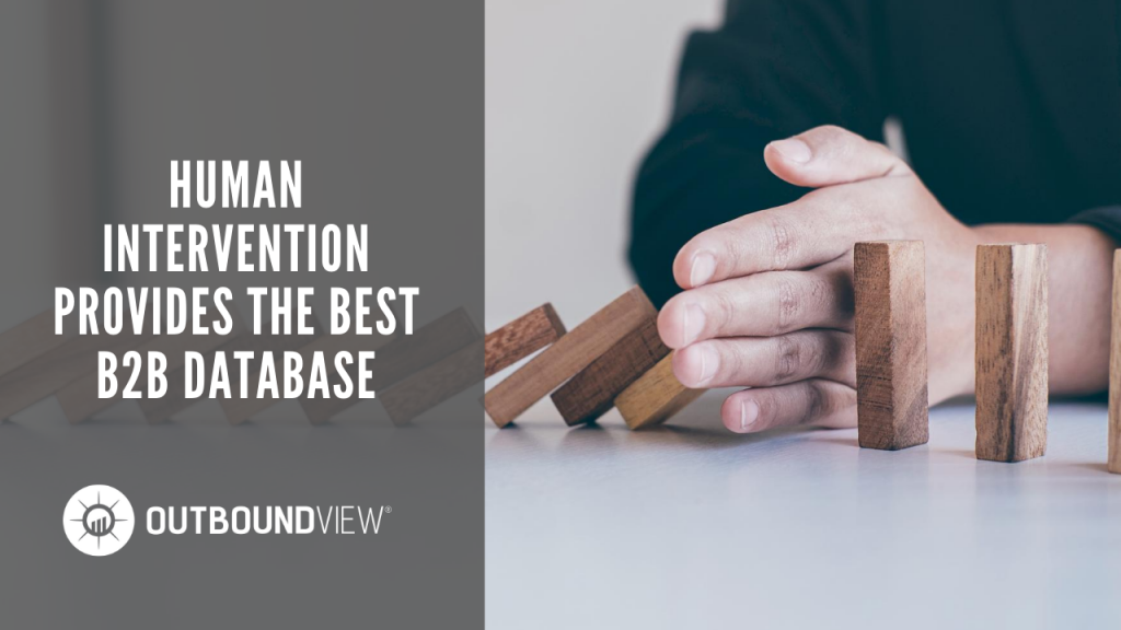 Human Intervention Provides the Best B2B Database